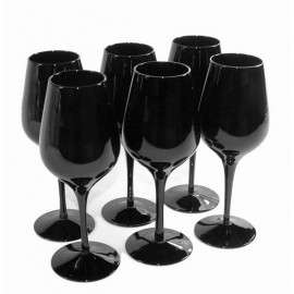 6x Black tasting glass Inao