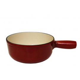 Classic Red Fondue Pot