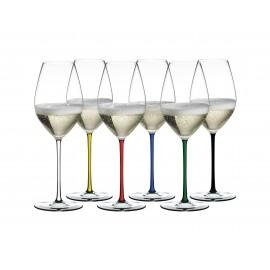 6x Fatto A Mano Champagne