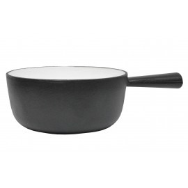 Black Mat Fondue Pot