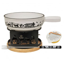 "Fondue Set ""Alpes"" White"